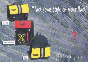 Advertising Guess Back Packs
