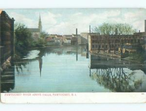 Unused Pre-1907 FACTORIES ON RIVER Pawtucket Rhode Island RI n5536