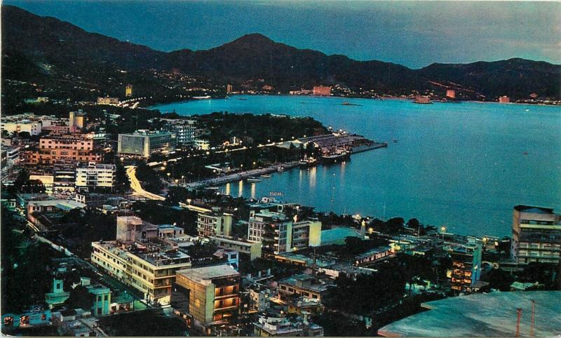Mexico Acapulco by night panorama