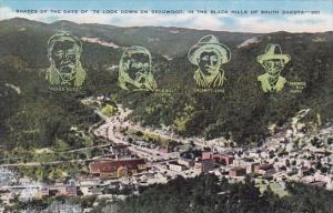 South Dakota Shades Of The Days of 76 Look Down On Deadwood In The Black Hill...