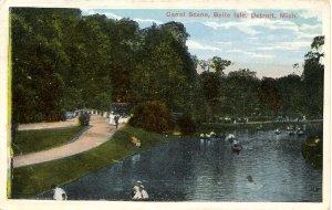 MI - Detroit. Belle Isle, Canal Scene