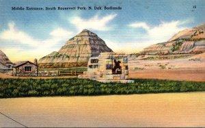 North Dakota Badlands South Roosevelt Park South Entrance 1944