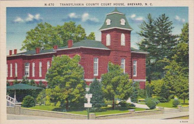 North Carolina Brevard Transylvania County Court House