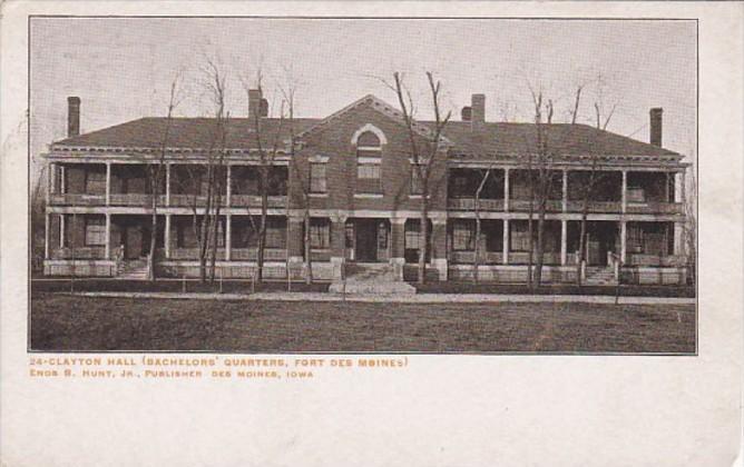 Iowa Des Moines Clayton Hall Bachelor's Quarters Fort Des Moines