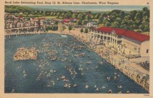CHARLESTON , West Virginia , 1930-40s ; Rock Lake Swimming Pool