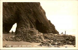 Cannon Beach OR Arch at Arch Cape RPPC Postcard unused (18042)