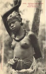 CPA Senegal Ethnic Nude Fortier - 1432. Etude n 111 Jeune Soussou (71048)