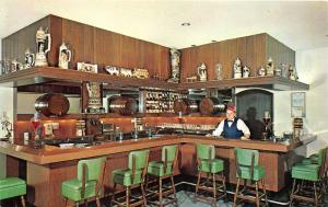 Frankenmuth Michigan Bavarian Inn-Stein Room~Wine & Beer Display~Bar Tender~1970
