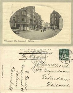 denmark, AALBORG ÅLBORG, Østeraagade, Ny Boulevard (1913) Embossed Postcard