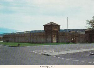 Canada British Columbia Kamloops Reconstructed Fort In Riverside Park