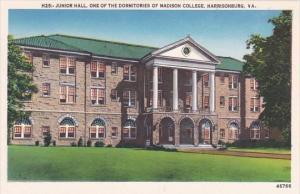 Junior Hall One Of The Dormitories Of Madison College Harrisonburg Virginia