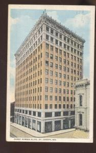 ST. JOSEPH MISSOURI CORBY FORSEE BUILDING DOWNTOWN VINTAGE POSTCARD MO.