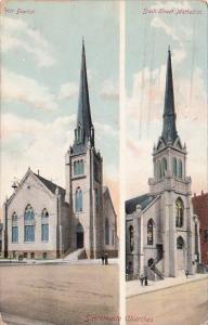 Carlifornia Sacramento Churches First Baptist Sixth Street Methodist 1911
