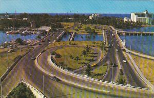Puerto Rico Santurce Traffic Circle As Seen From Miramar Charter House Hotel