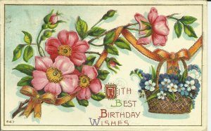 With Best Birthday Wishes ---Embossed