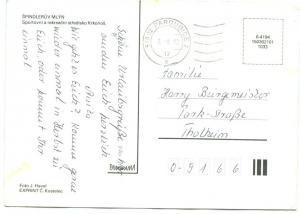 Czech Republic, SPINDLERUV MLYN, 1992 used Postcard