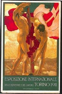 Lib375  - CARTOLINA d'Epoca llustrata - EXPO INDUSTRIA Torino 1911 DE KAROLIS