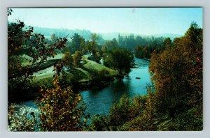 Muskoka Ontario- Canada, Muskoka River, Locks, Huntsville, Chrome Postcard