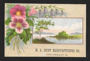 VICTORIAN TRADE CARD MA Hunt Manufacturing Spring Beds