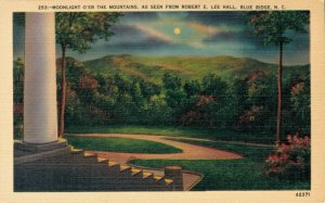 USA North Carolina Moonlight as seen from Robert E Lee Hall Blue Ridge 03.78