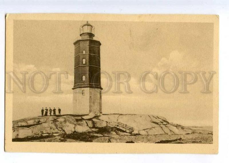 235401 FINLAND HANGO LIGHTHOUSE Vintage postcard