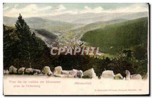 Old Postcard View of the Vallee de Munster Taking the & # 39Altenberg
