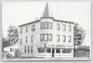 Belmar New Jersey~Sea Food Dave's Restaurant~700 F Street~1950s B&W Postcard