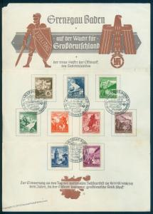 3rd Reich Germany 1938 WHW Grenzgau Baden Winter Charities Day of Solidari 85052