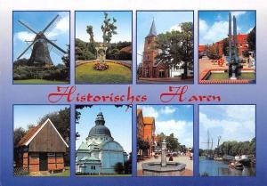 Historisches Haren multiviews Muehle Brunnen Kirche Hafen Schiff, Mill Church