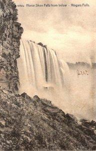 New York Niagara Falls Horse Shoe Falls From Below 1906 Rotograph