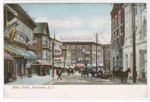 Main Street Pawtucket Rhode Island 1905c postcard