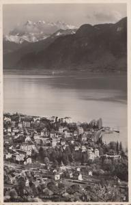 Switzerland, Suisse, Vevey et Deats du Midi, unused real photo Postcard