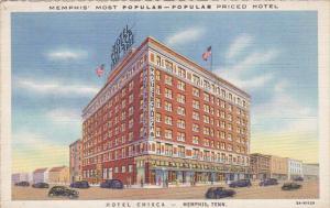 Tennessee Memphis Hotel Chisca Curteich