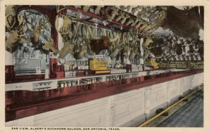 SAN ANTONIO , Texas, 1930-40s ; Bar View, Albert's Buckhorn Saloon