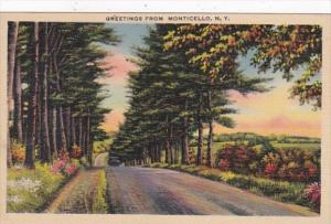 New York Greetings From Monticello