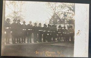 Mint USA Real Picture Postcard Sergt Wyman Union Vs Civil War Veterans 1907