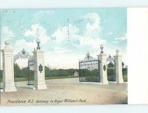 Pre-1907 PARK SCENE Providence Rhode Island RI H4197