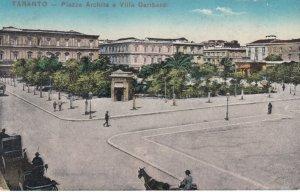 TARANTO, Puglia , Italy , 1900-10s ; Piazza Archita e Villa Garibaldi