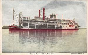 Bg32998 quincy steamer jo packet line usa   ship bateaux