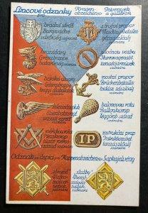 Mint Czechoslovakia Legion Picture Postcard Military Badges