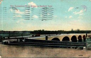 Connecticut Hartford New Connecticut River Bridge 1908