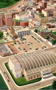 New York Syracuse Aerial View Showing Madison-Warren Garage