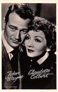 John Wayne & Claudette Colbert Movie Star Actor Actress Film Star Unused