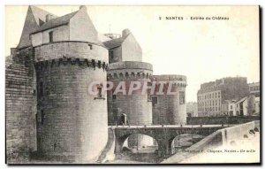 Old Postcard Nantes Entree du Chateau