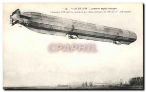 Old Postcard The Airship Zeppelin Spiess first rigid french