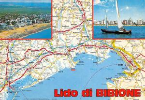 Italy Lido di Bibione Map Stadtplan Strand Beach Hotels Spiaggia