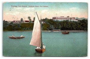 Greetings from Jamaica, Titchfield Hotel, Port Antonio Postcard *7C2