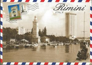 Postcard RIMINI Italy by Lito87 Large Format