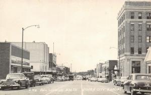Dodge City Kansas~2nd Avenue South~McLellan's~Mullin Furniture Co~1940s Cars~B&W