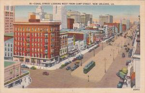 Canal Street Looking West From Camp Street, New Orleans, Louisiana, 30-40´s